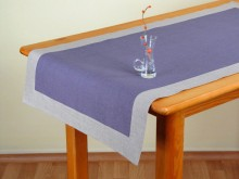 Linen table runner Des.Ag 144 BN5 K.LILAS