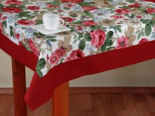 Linen tablecloth Des.AD 001